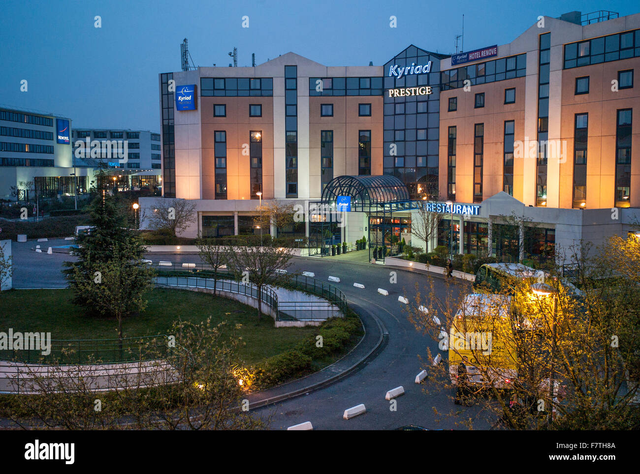 France, Roisey, Prestige Hotel at Charles de Gaulle Airport - Stock Image