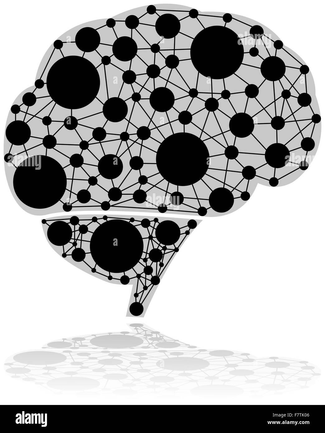 Brain dots - Stock Image