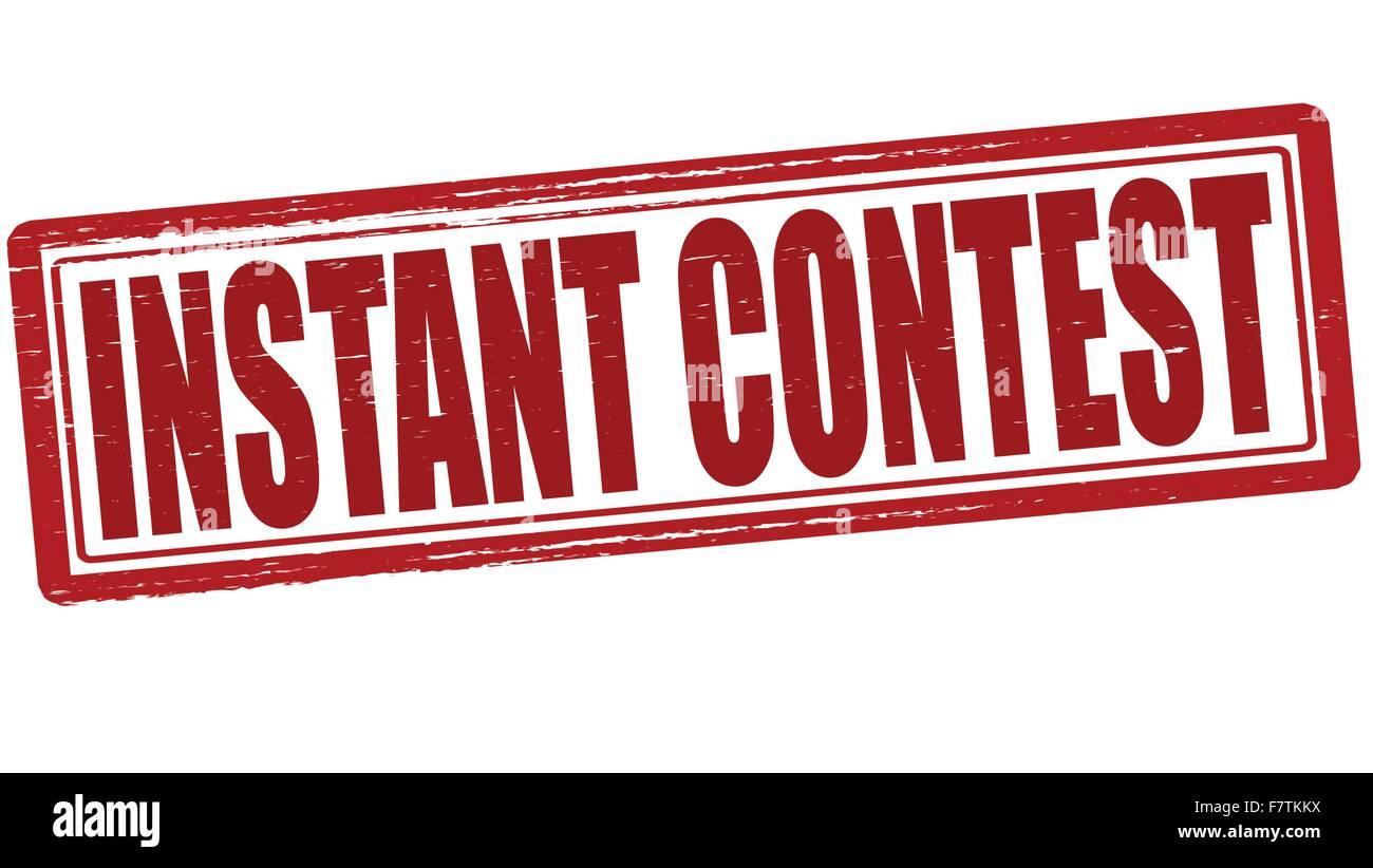 Instant contest - Stock Image