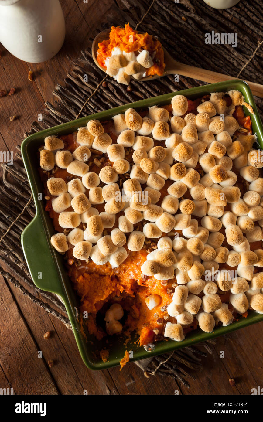Homemade Sweet Potato Casserole for Thanksgiving Stock Photo