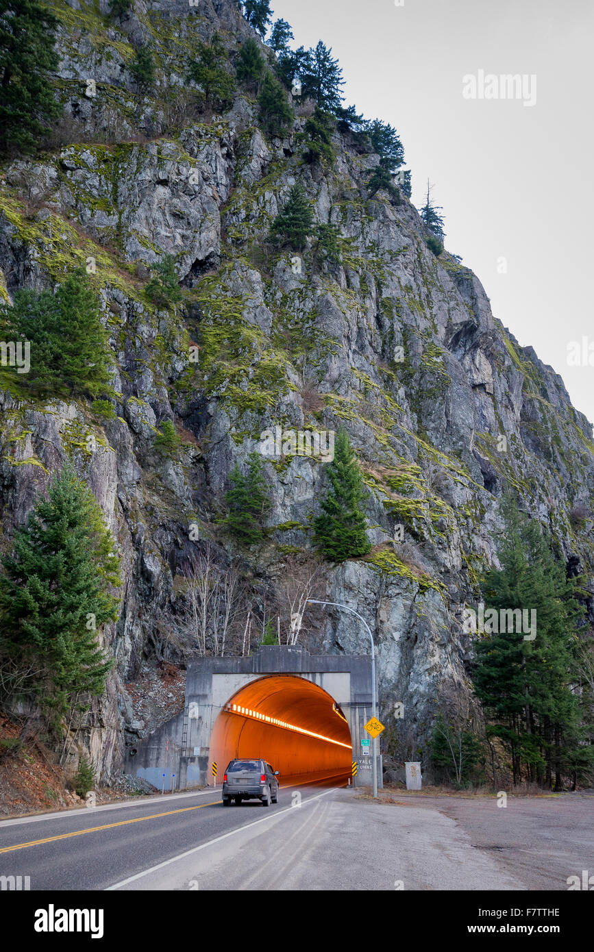 Yale tunnel, Trans Canada Highway, British Columbia, Canada - Stock Image