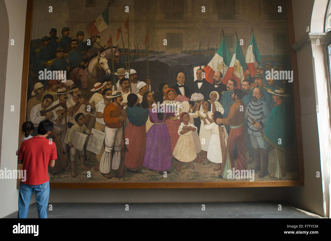 A. Gonzalez Orozco painting in the Museum of National History in Chapultepec Castle, Mexico City. - Stock Image
