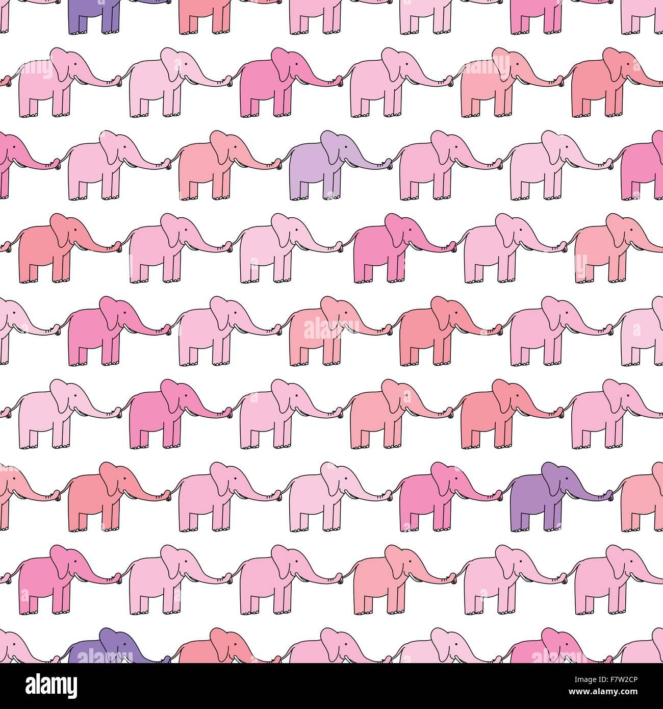 Happy elephants - Stock Image