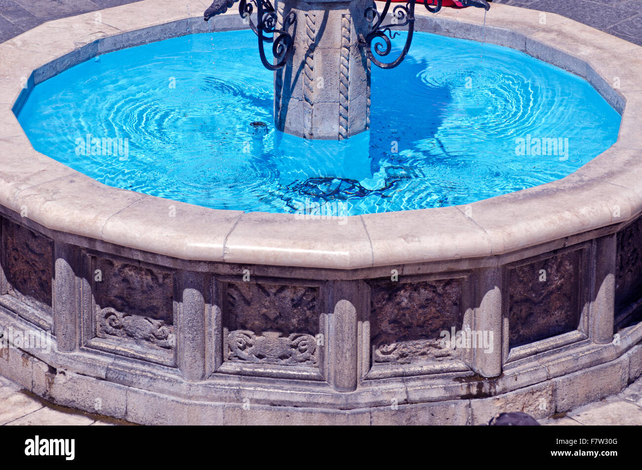 Fountain blue stock photos images