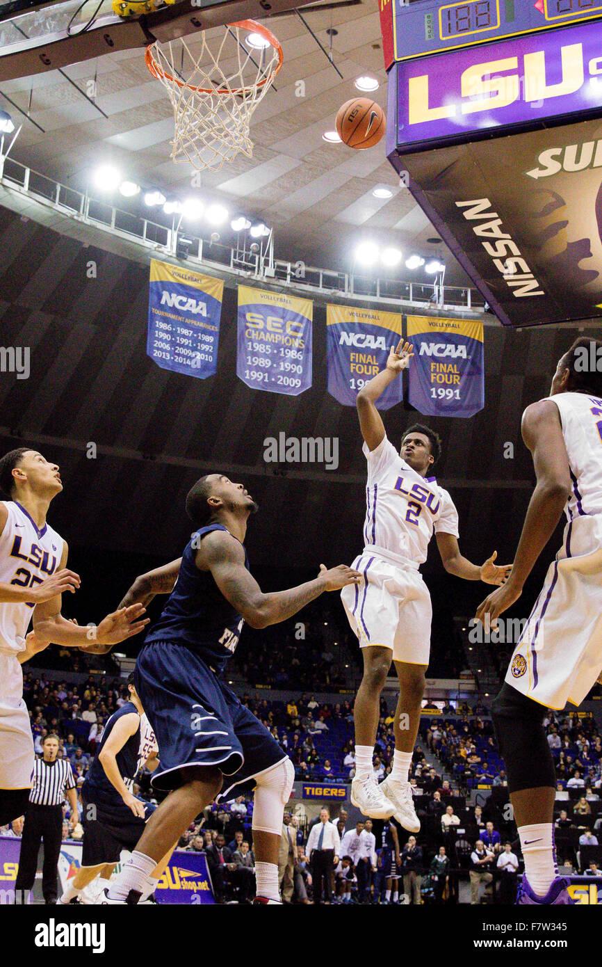 LSU Tigers Guard Antonio Blakeney 2 Shoots A Jump Shot During An NCAA Basketball Game Between The And North Florida At Pete Maravich