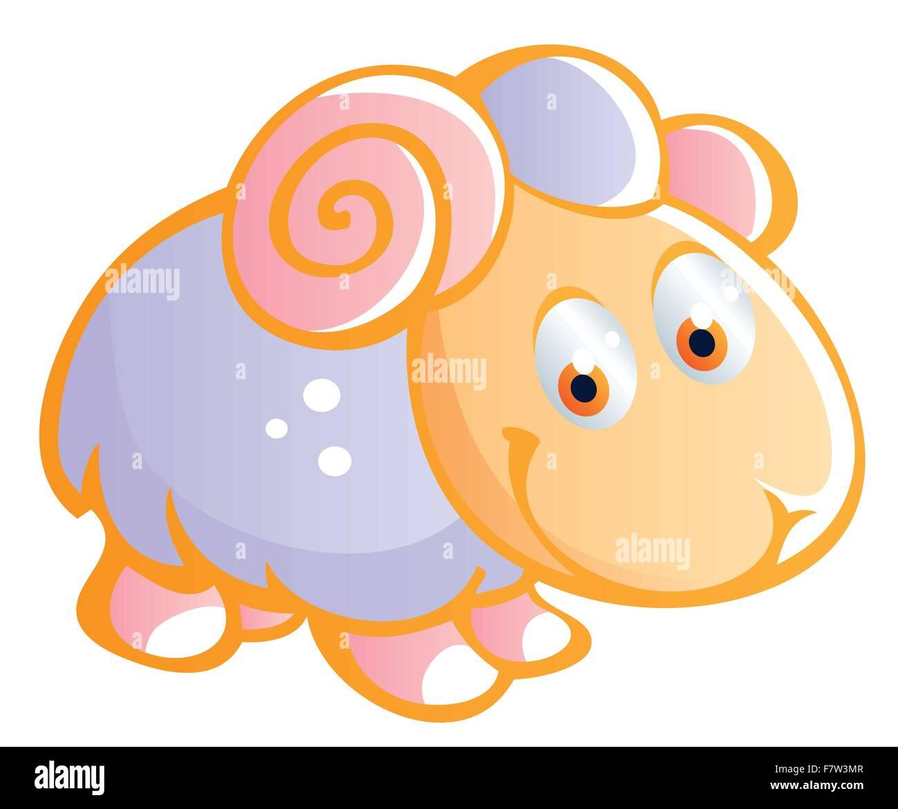 baby sheep - Stock Vector