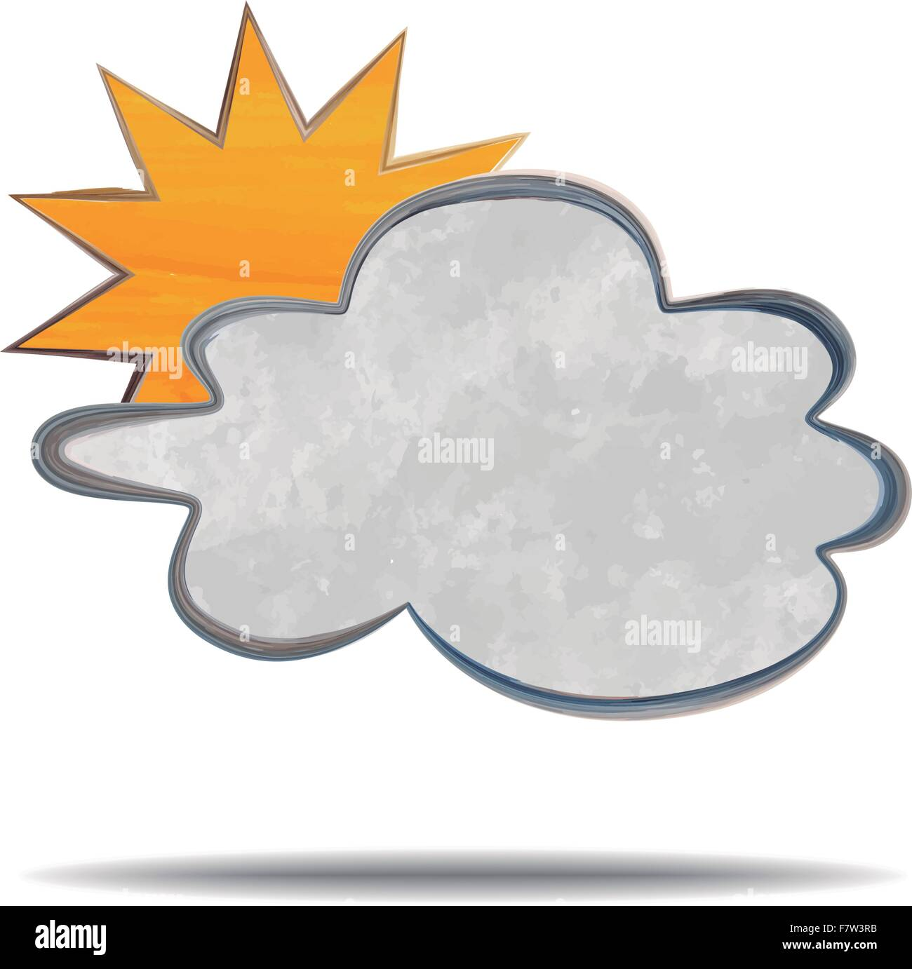 climate. clouds and sun - Stock Vector