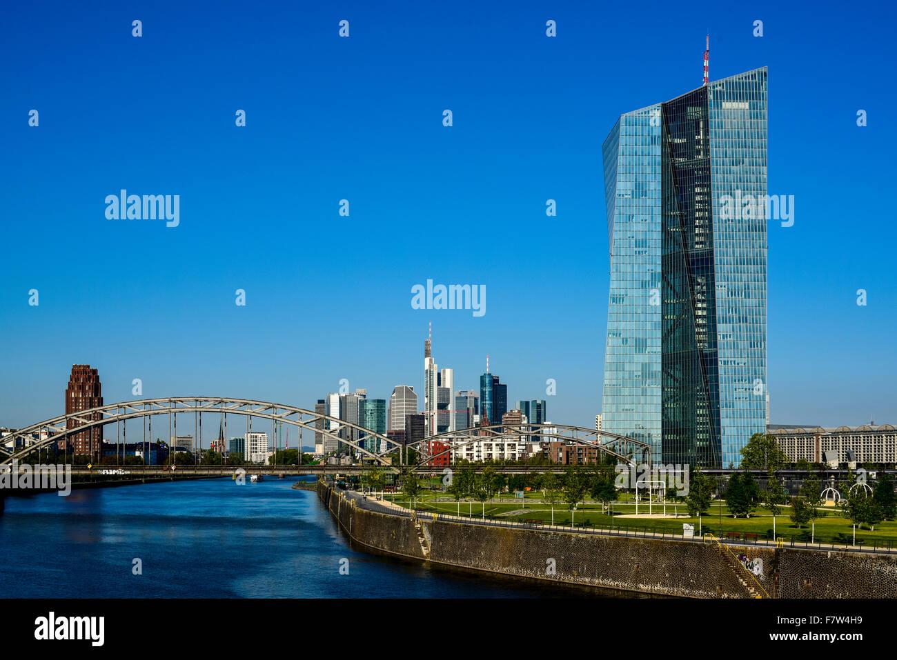 ECB, European Central Bank, Frankfurt, Germany - Stock Image