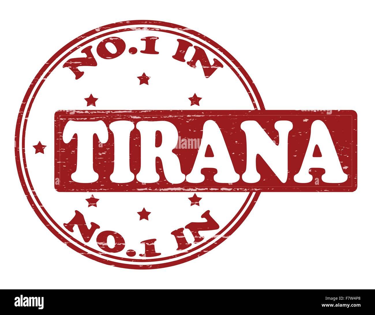 No one in Tirana - Stock Vector