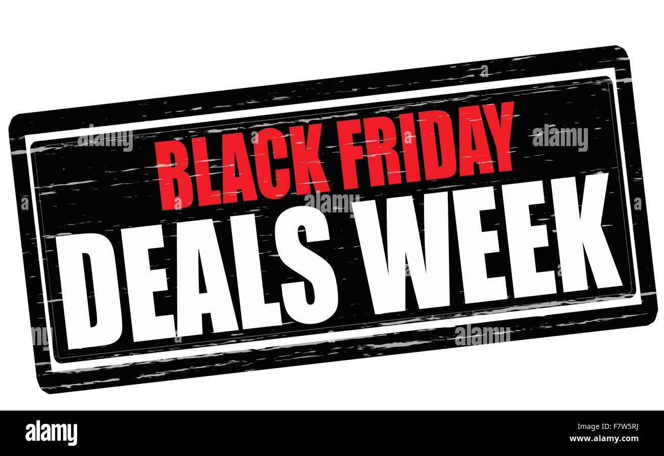 Black Friday Deals Week Stock Vector Image Art Alamy