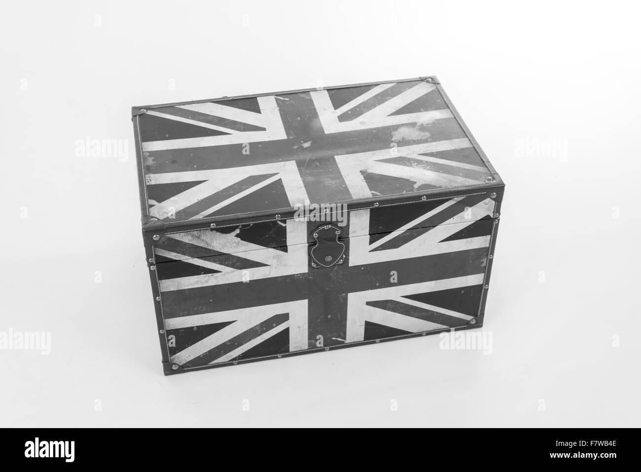 Black and White of British Box - Stock Image