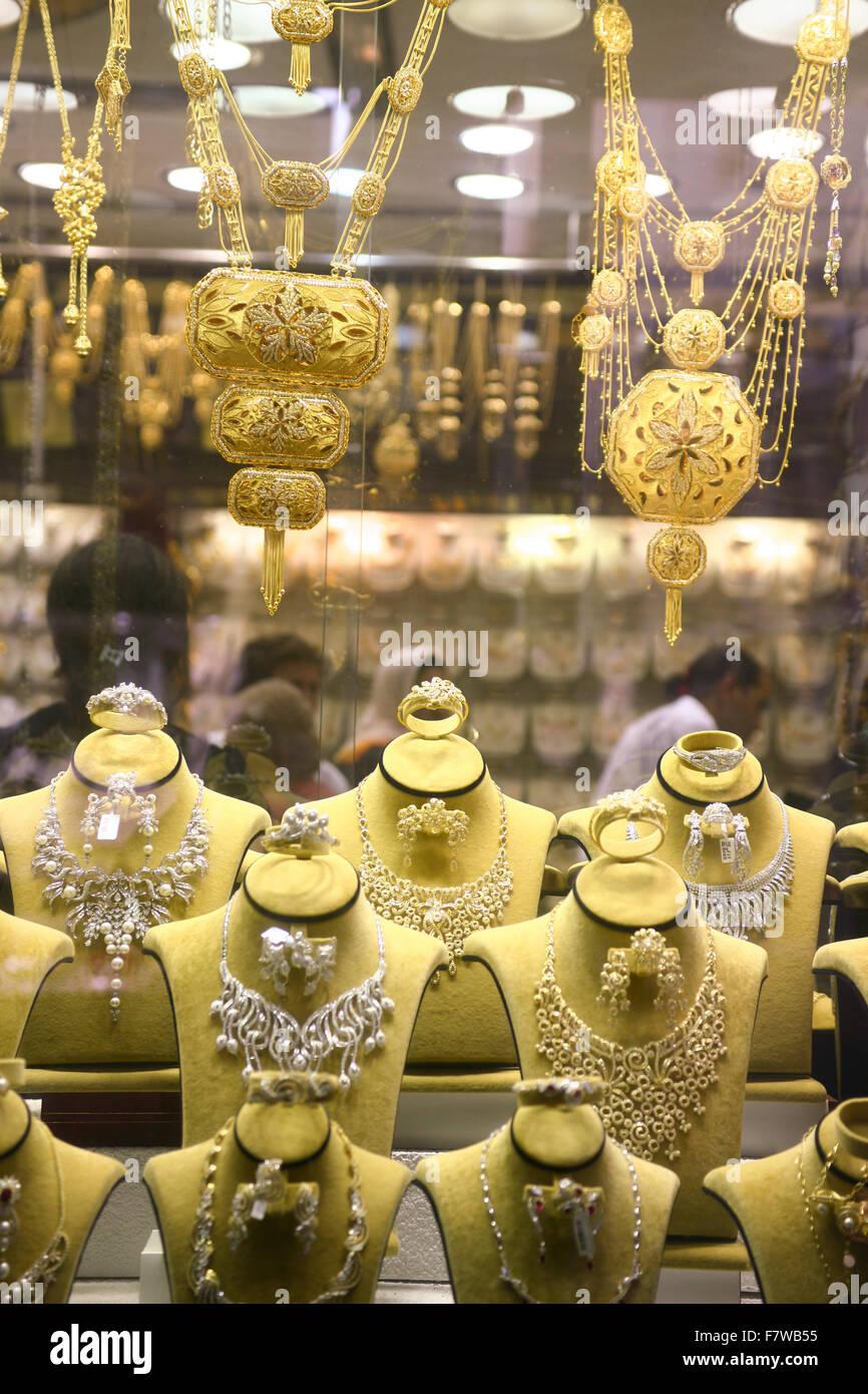 Gold Souk, Dubai, United Arab Emirates - Stock Image