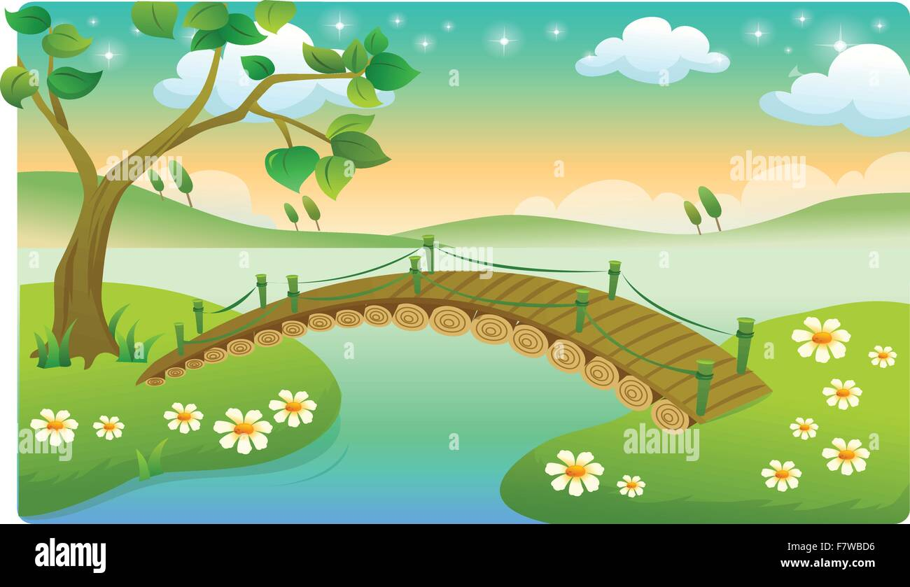 beautiful landscapes - Stock Vector