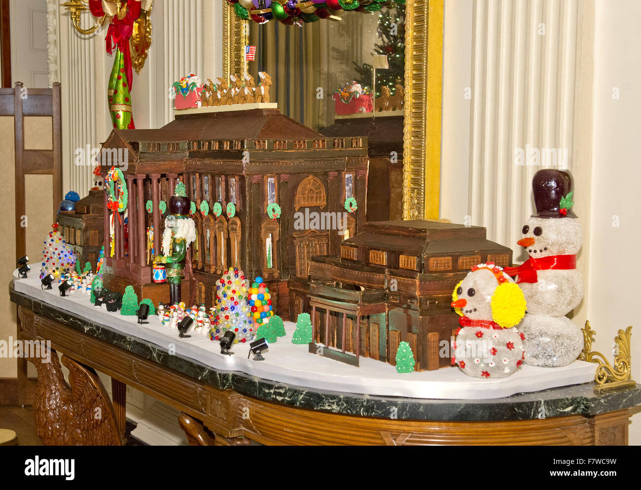 Washington dc usa 2nd december 2015 the traditional white house the traditional white house gingerbread house in the state dining room on the state floor as part of the 2015 white house christmas theme a timeless dzzzfo