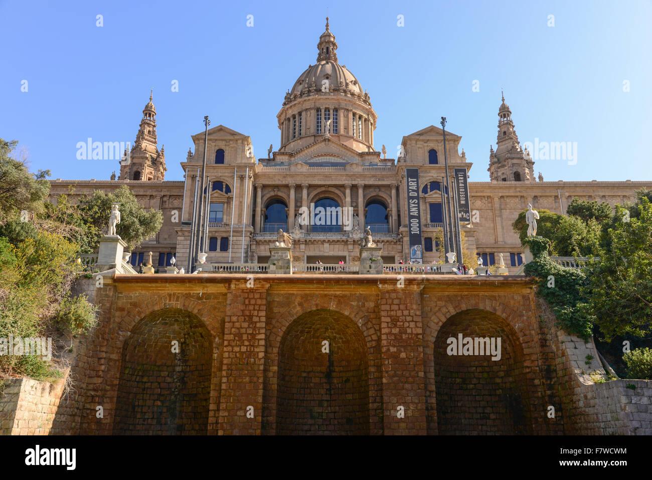 Museu Nacional d'Art de Catalunya MNAC, Barcelona, Spain - Stock Image