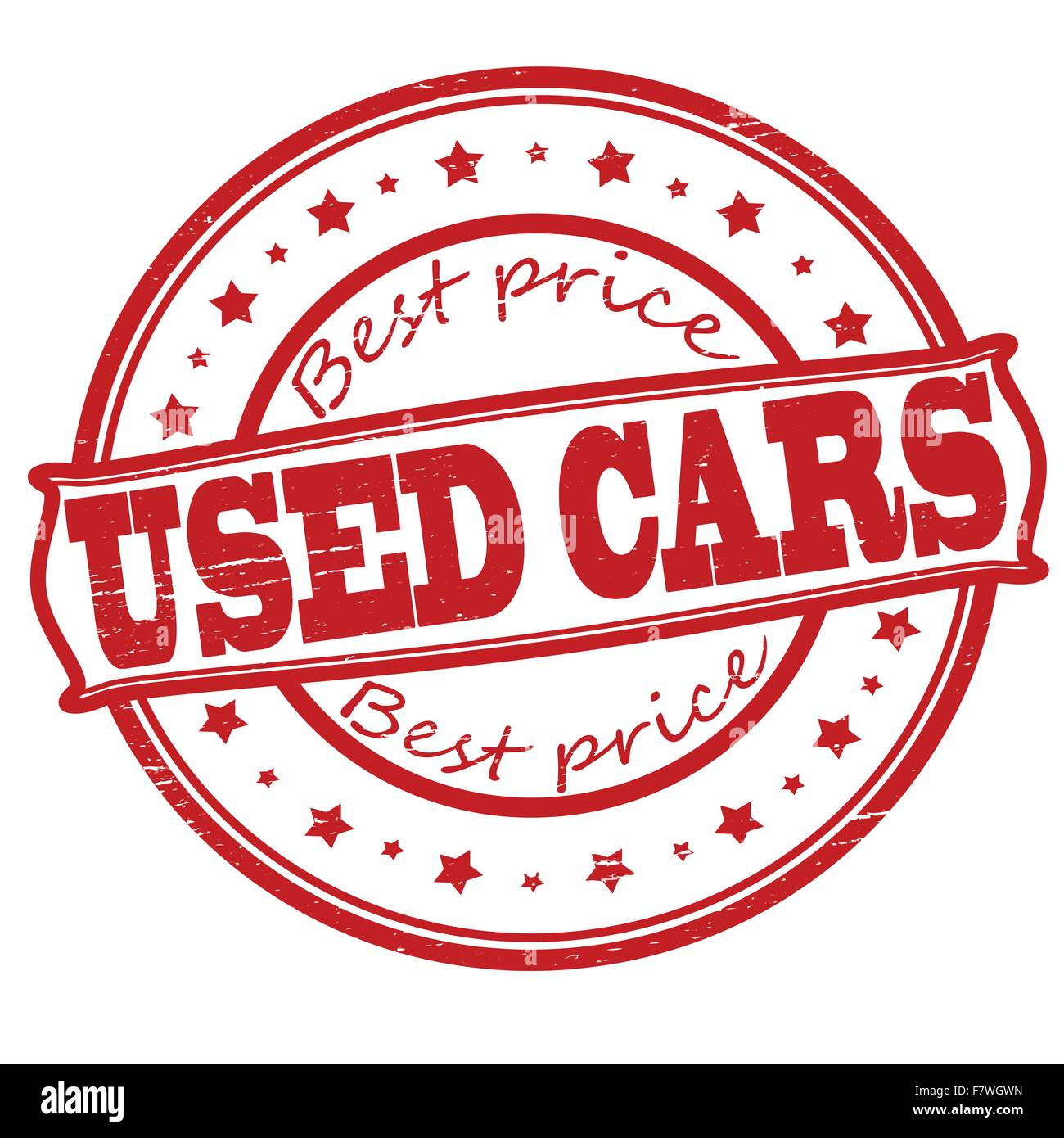 Used cars - Stock Vector