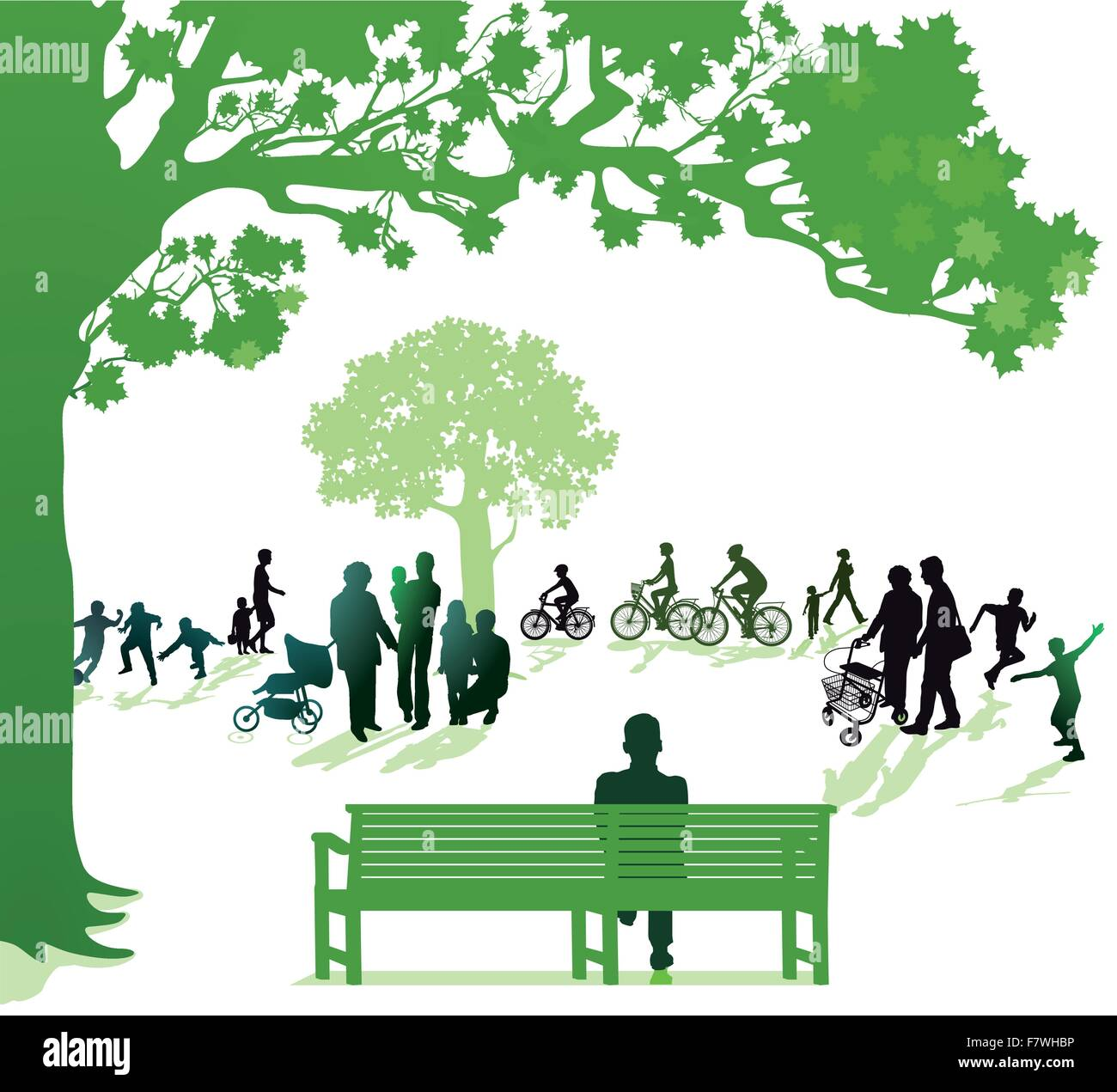 three generations - Stock Vector