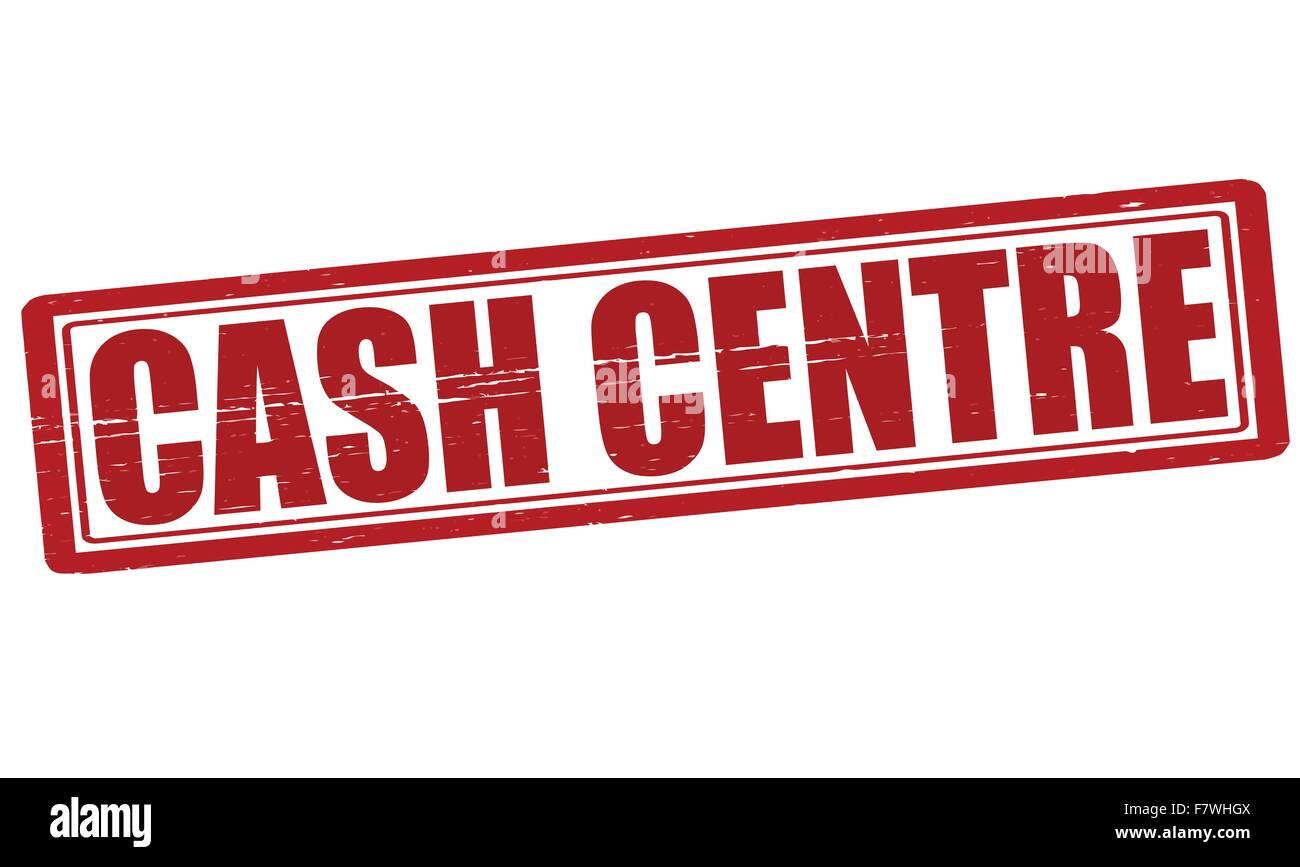 Cash centre - Stock Vector