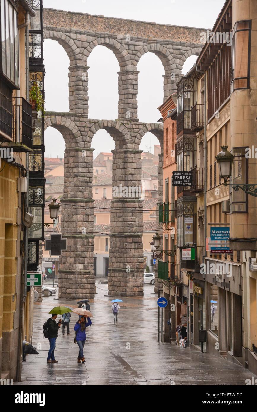 Acueducto de Segovia, Spain - Stock Image