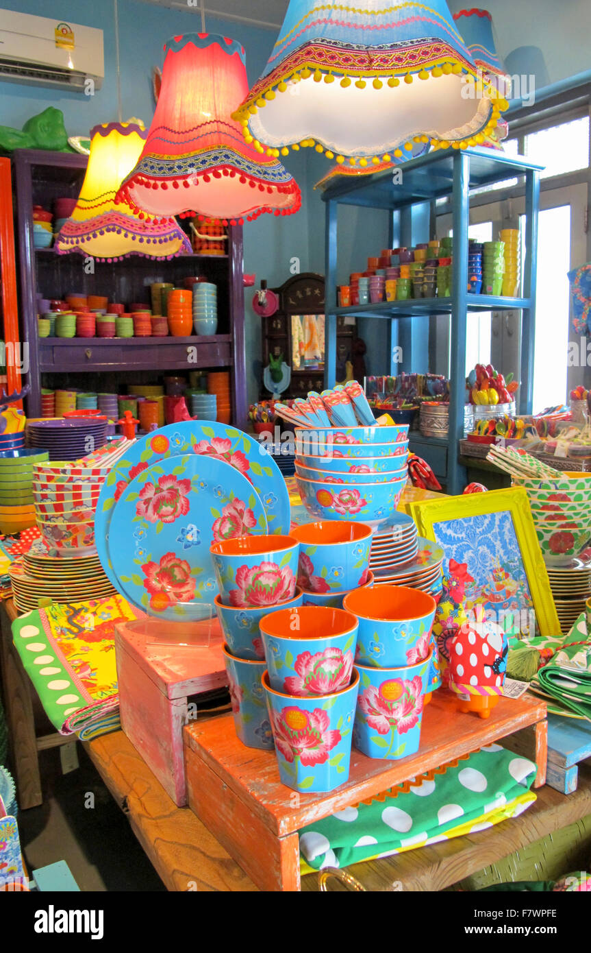 Furnishing Store, Chiang Mai, Thailand - Stock Image