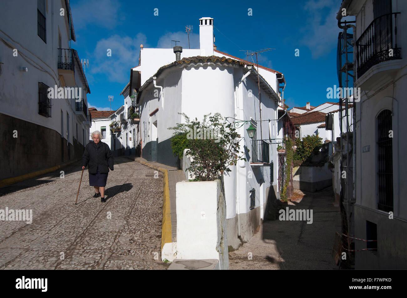 Urban view, Fuenteheridos, Huelva-province, Region of Andalusia, Spain, Europe - Stock Image