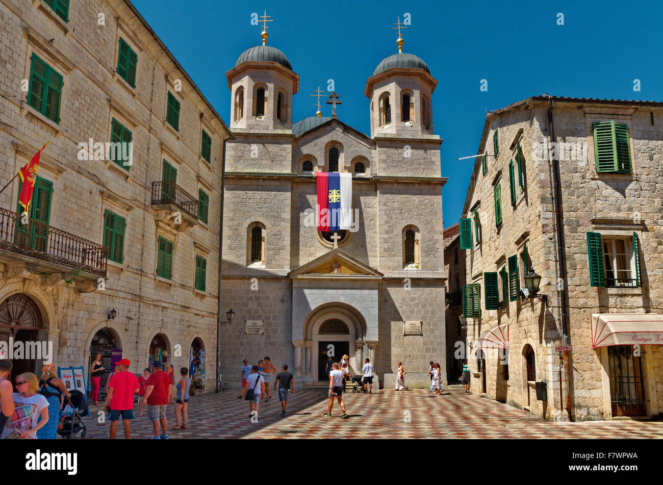 St Nicholas's Church Kotor Old Town, Montenegro - Stock Image