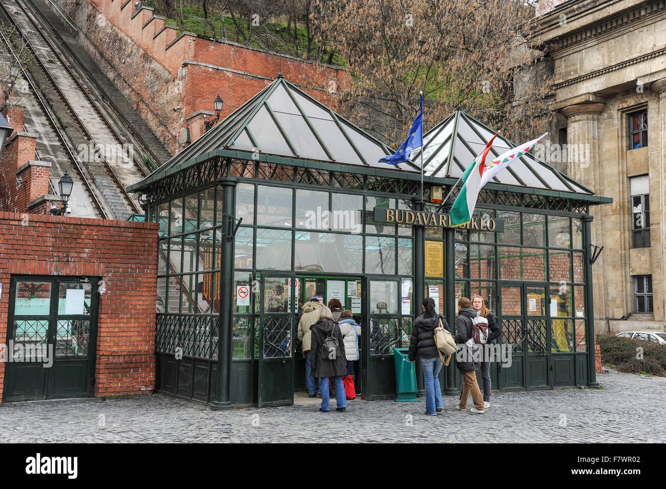 Ticket Booth in Budavari Palota, Budapest, Hungary Stock Photo