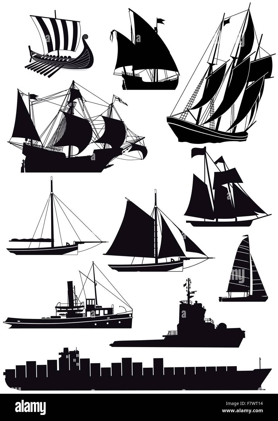 Ships and sailing ships - Stock Image
