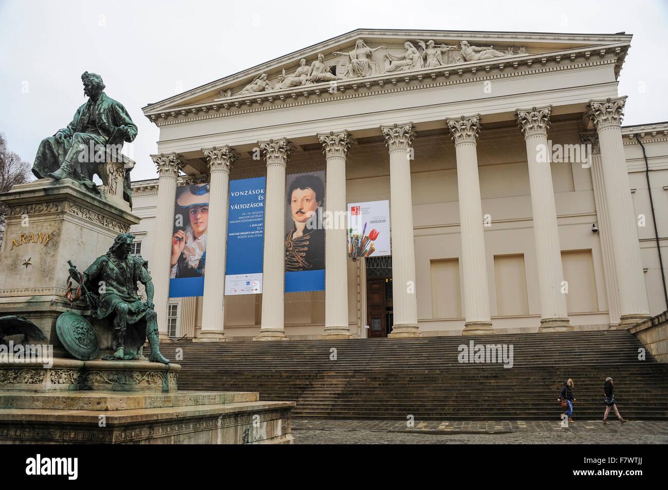 Magyar Nemzeti Muzeum, Budapest, Hungary - Stock Image