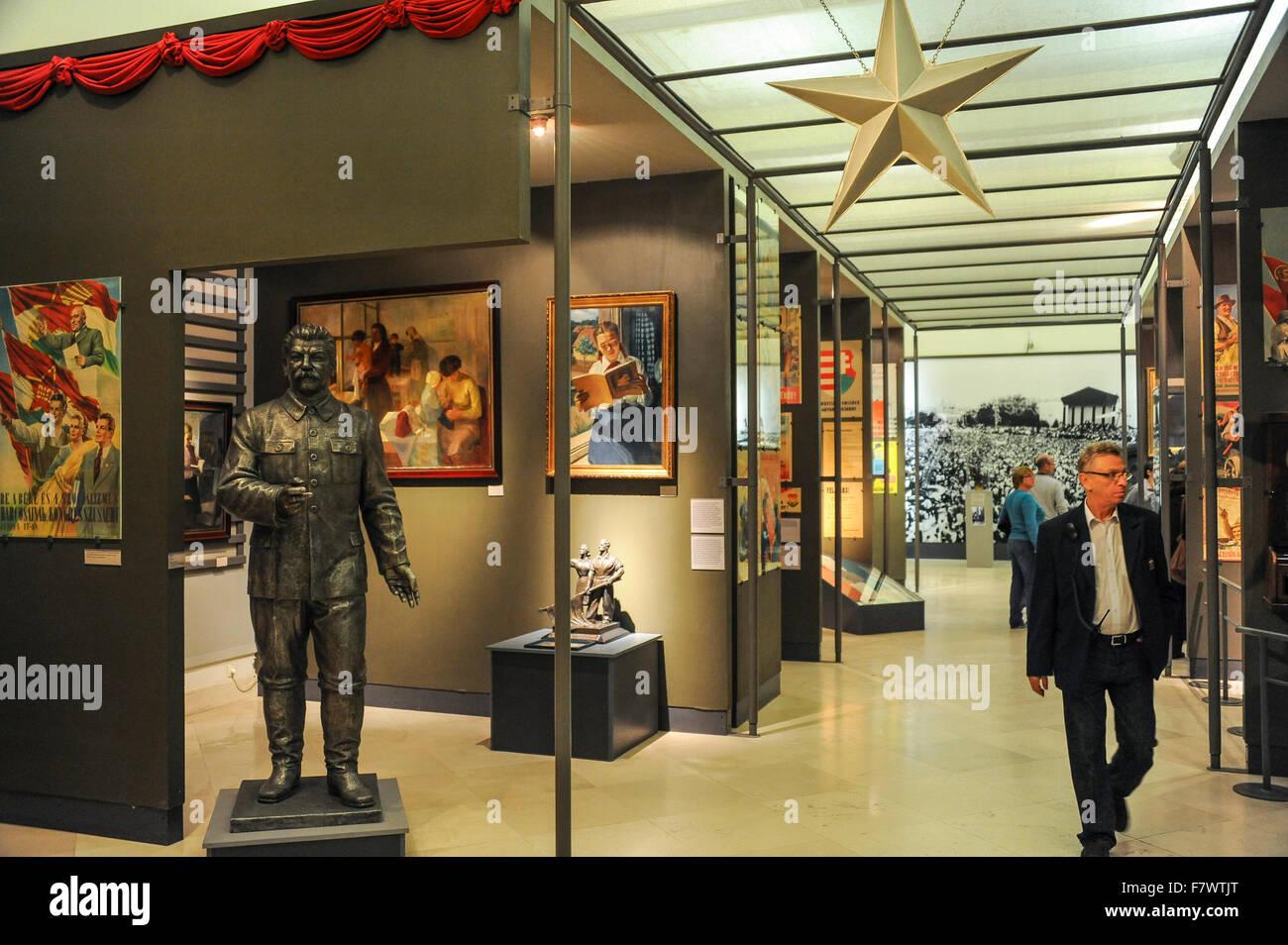 Interior of Magyar Nemzeti Muzeum, Budapest, Hungary - Stock Image
