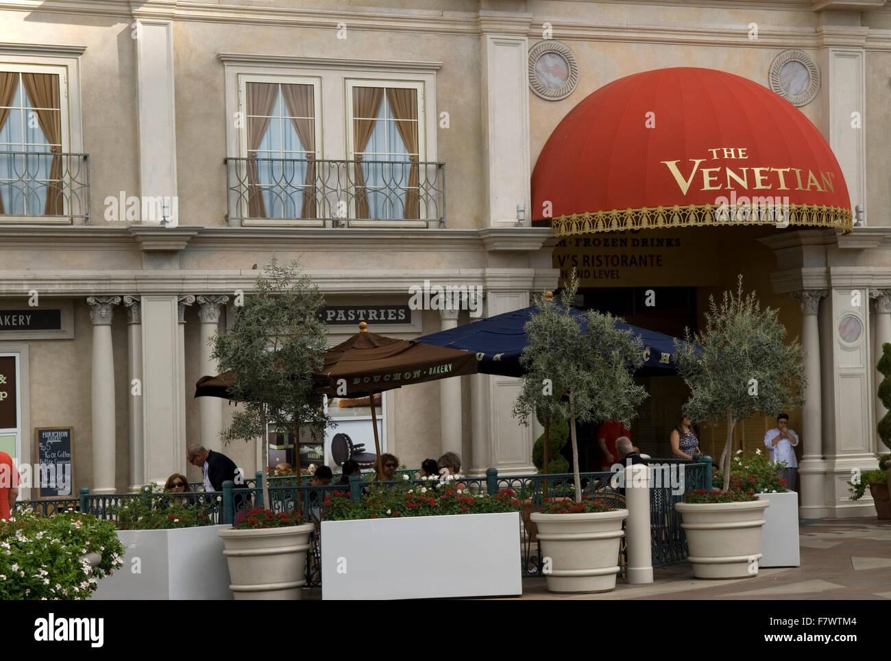 The Venetian Resort In Las Vegas Nevada USA. - Stock Image