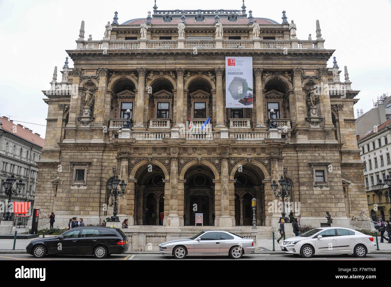 Magyar Allami Operahaz, Budapest, Hungary - Stock Image