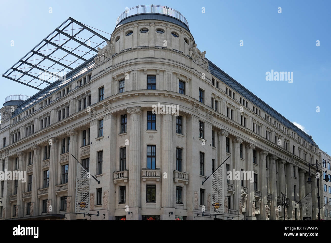 Hard Rock cafe building in Budapest - Stock Image