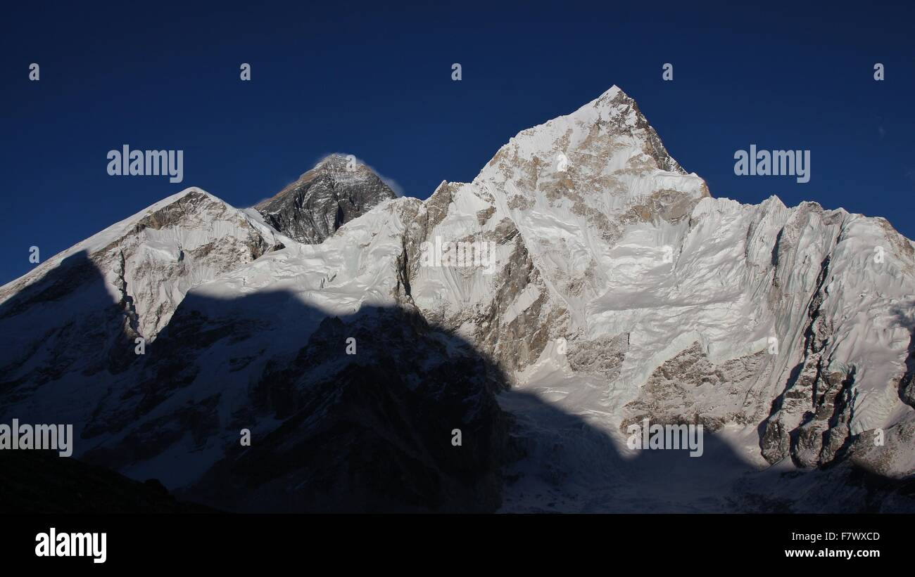 Mt Everest and Nuptse - Stock Image