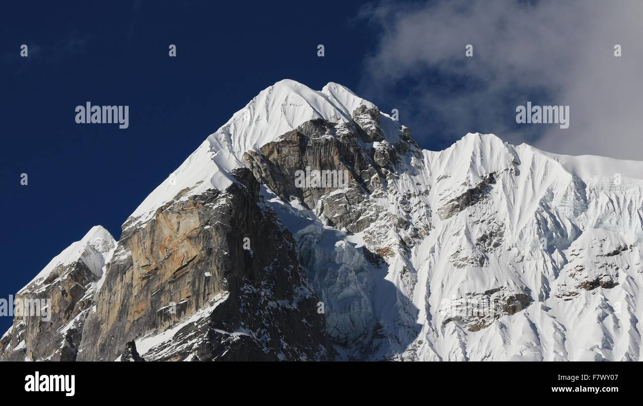 Lobuche East, mountain in the Everest Region - Stock Image