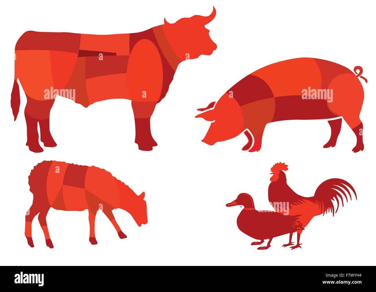 Beef meat - Stock Vector