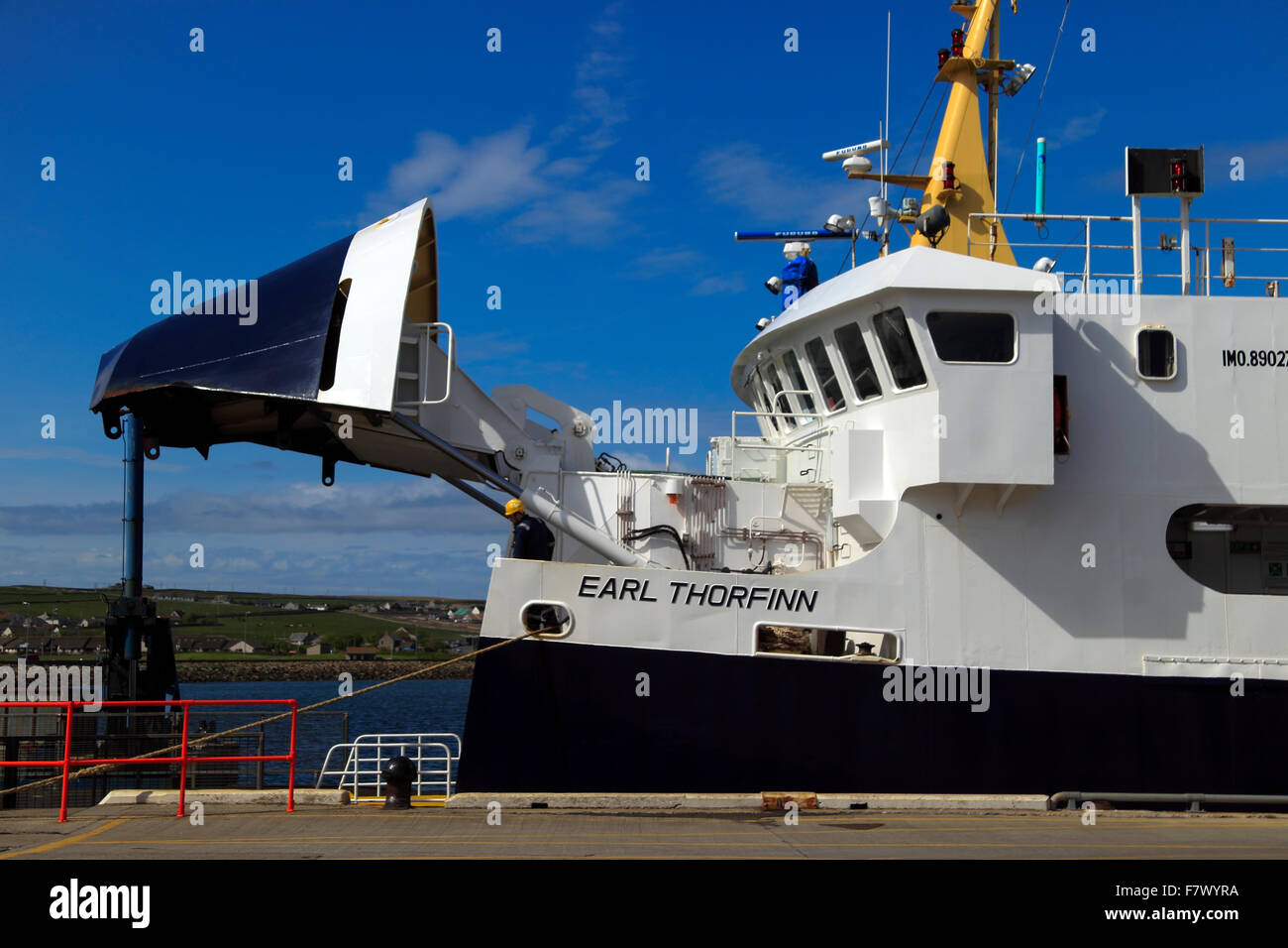 Ferry Kirkwall Harbour Orkney Islands Scotland UK - Stock Image
