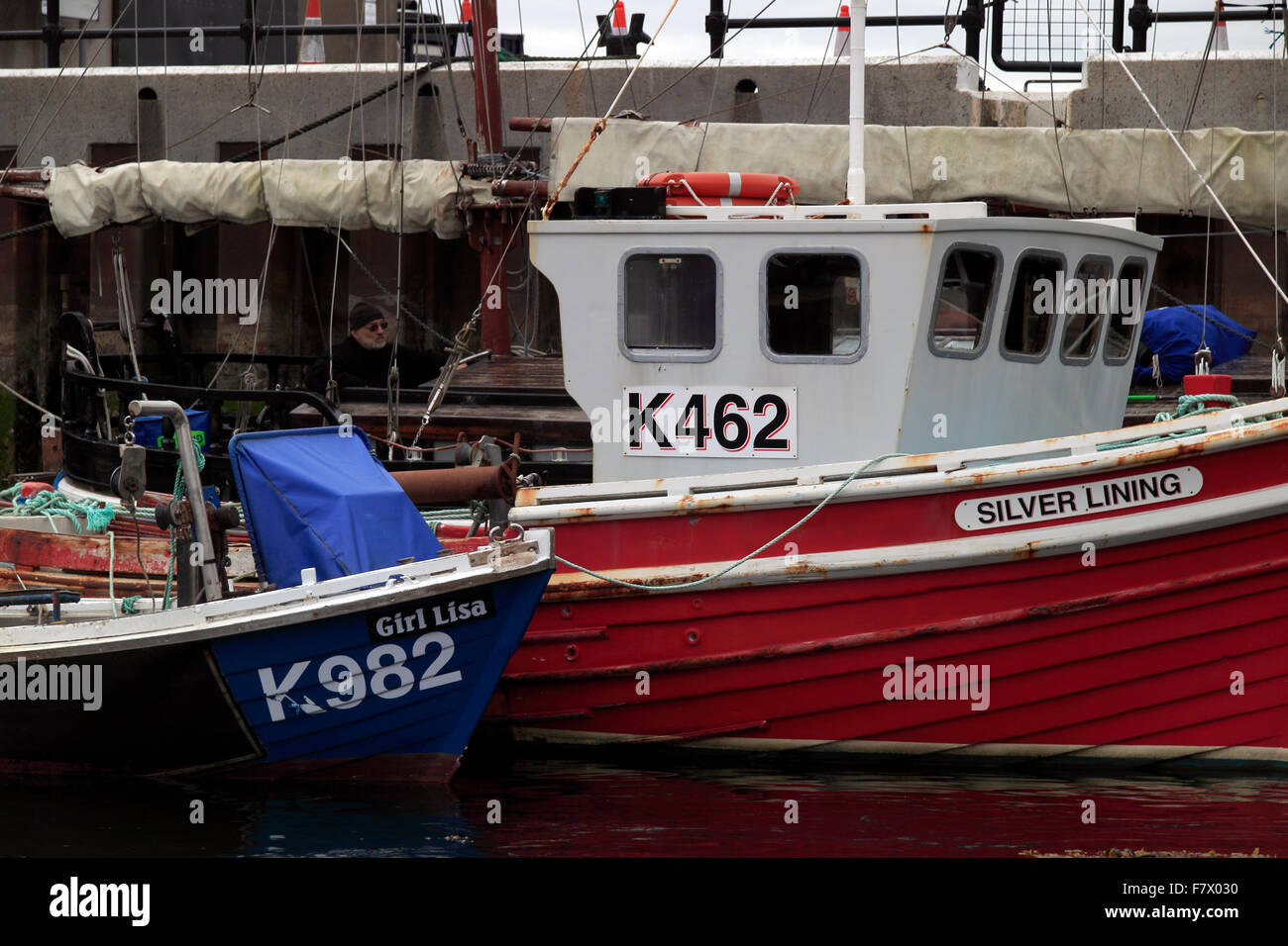 Boats The Basin Kirkwall Harbour Orkney Islands Scotland UK - Stock Image