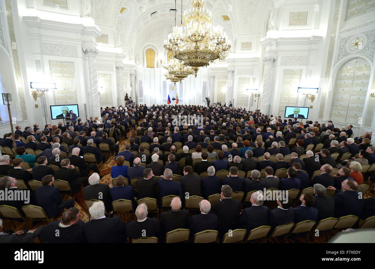 Moscow Russia 3rd Dec 2015 Russia S President Vladimir Putin