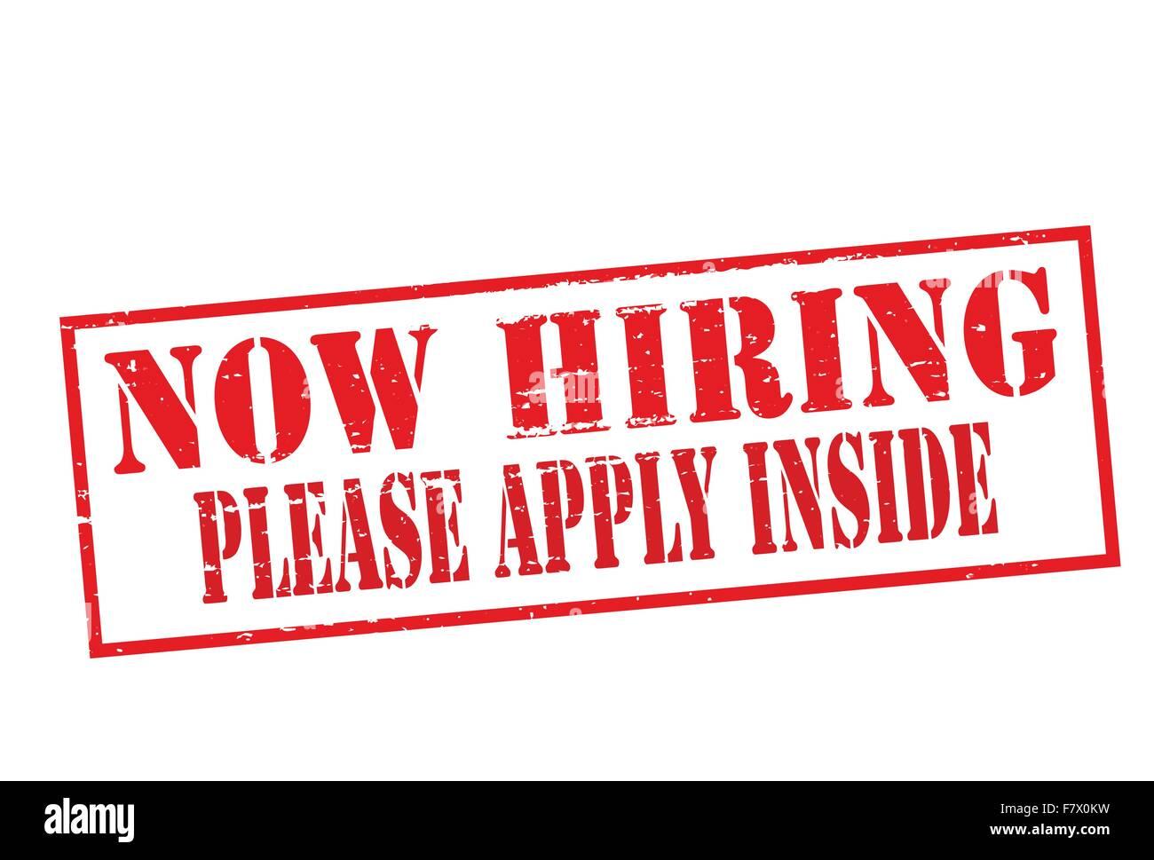 Now hiring - Stock Vector