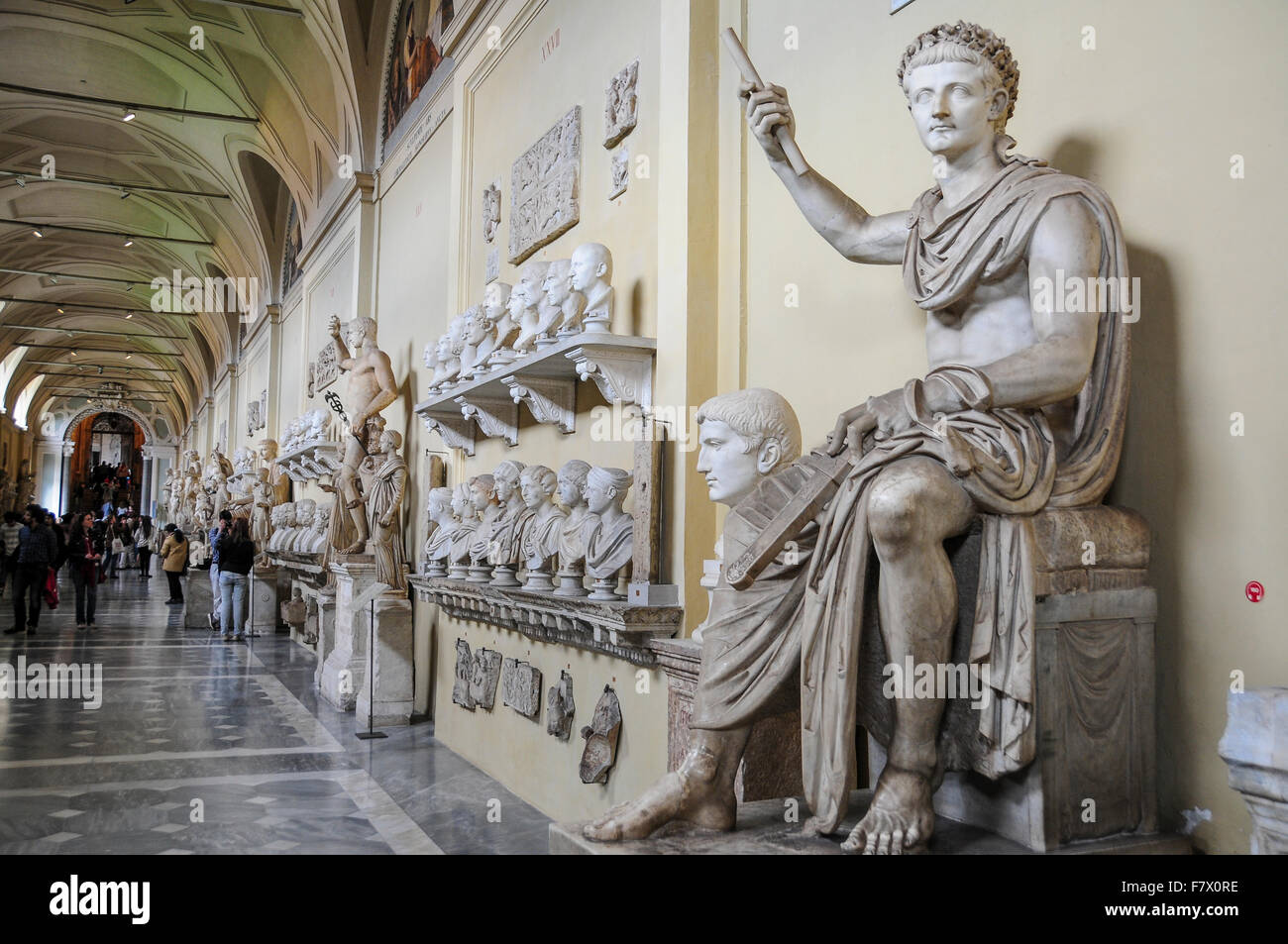 chiaramonti museum in vatican museums vatican stock photo 90925842