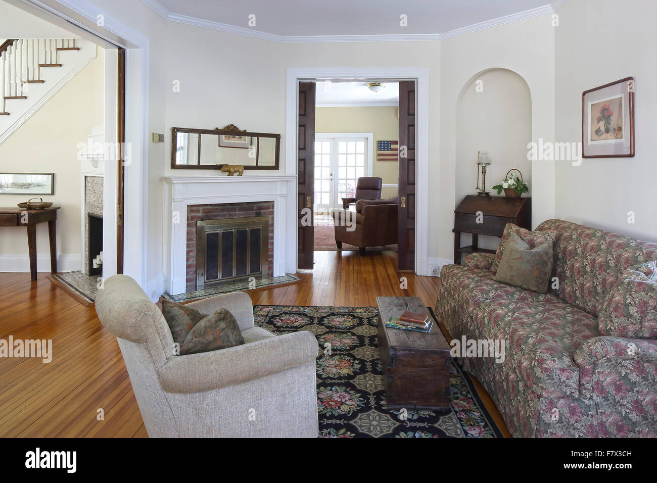 Main Reception Room Living Parlor At Entrance With View Through To Dining And Family Queen Anne Victorian Hou