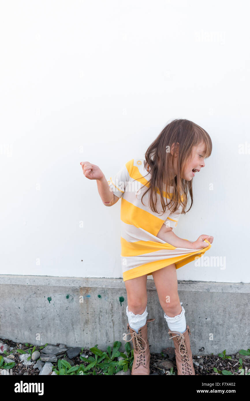 Girl messing about - Stock Image