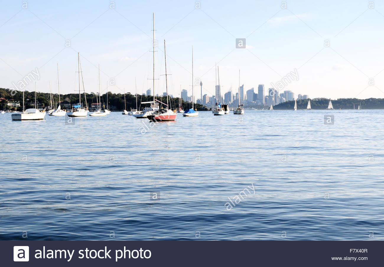 View of Sydney from watsons bay, Australia - Stock Image