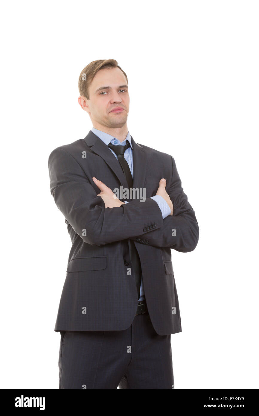 a6ce3edc4a3a body language. man in business suit isolated white background. Training  managers. sales agents gestures of arms and hands. posture of superiority.  emphasis ...