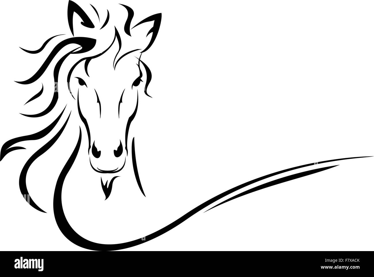 horse head vector stock vector art illustration vector image rh alamy com horse head vector front horse head vector clipart