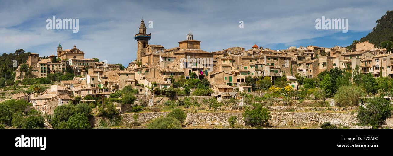 Panorama of Valldemossa, Mallorca, Baleares, Spain - Stock Image