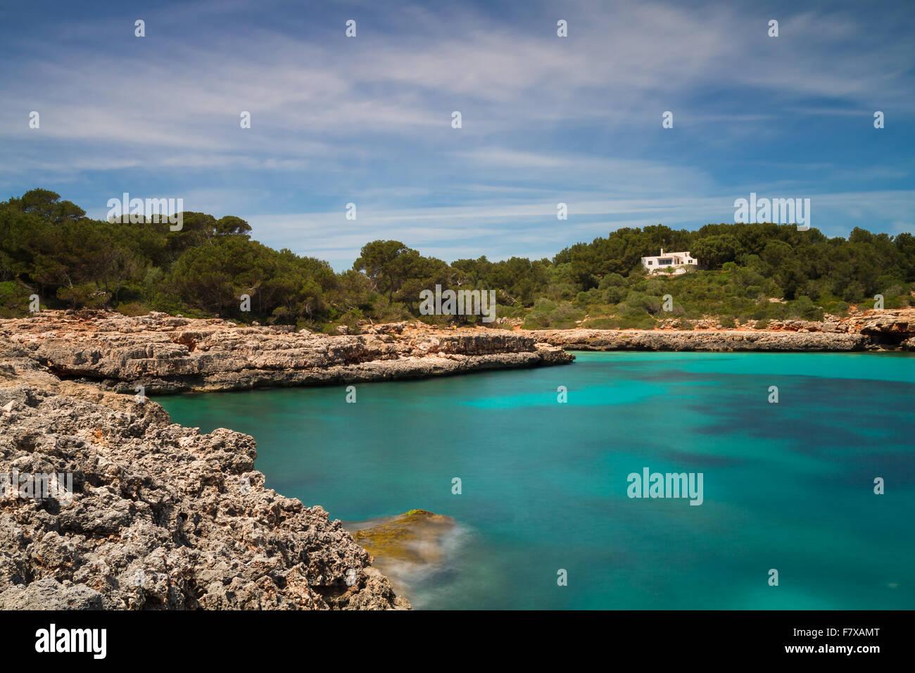 Rocks at Cala Sa Nau - Long Exposure Version - Stock Image