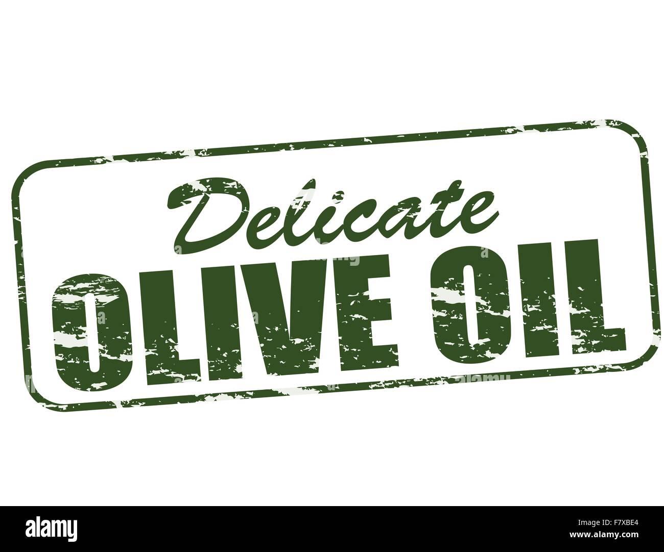 Delicate olive oil - Stock Vector