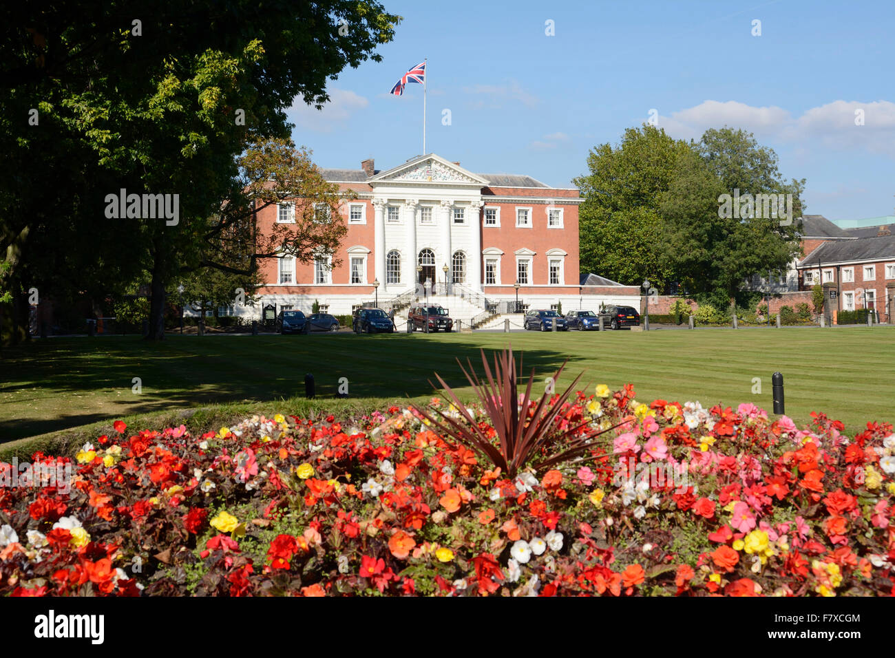Warrington Town Hall, administrative centre for Warrington, Cheshire. Stock Photo